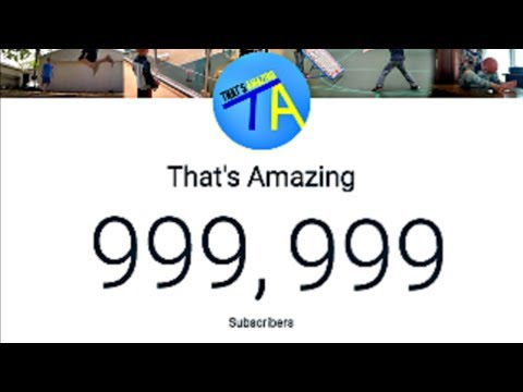 Hitting One Million Subscribers (Live Reaction)  | That's Amazing Mp3