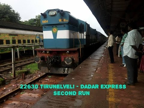 Compilation Of Two Action Pack Run OF 22630 TIRUNELVELI-DADAR Express(Via Konkan Railway)