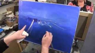 Ночной город,художник Игорь Сахаров, уроки рисования, живопись для начинающих, научиться рисовать