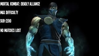 Video Mortal Kombat: Deadly Alliance - Sub-Zero - Max Difficulty - No Matches Lost download MP3, 3GP, MP4, WEBM, AVI, FLV November 2017