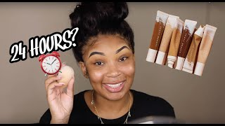 LETS TRY THIS AGAIN! WEARING THE FENTY HYDRATING FOUNDATION FOR 24HRS....