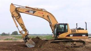 Cat 330C Excavator Grading Topsoil