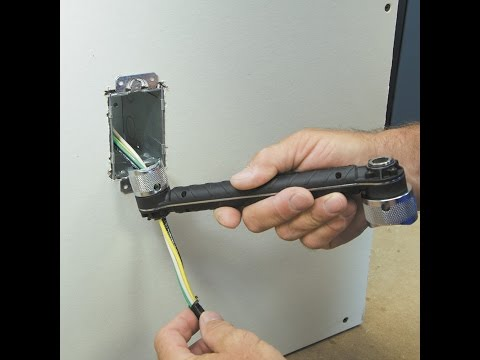 Easily Attach Locknuts in Deep Cut-in Boxes with the NEW Conduit Locknut Wrench from Klein