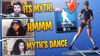 "STREAMERS REACT TO *NEW* MYTH ""FANCY FEET"" EMOTE/DANCE! - FORTNITE FUNNY MOMENTS"
