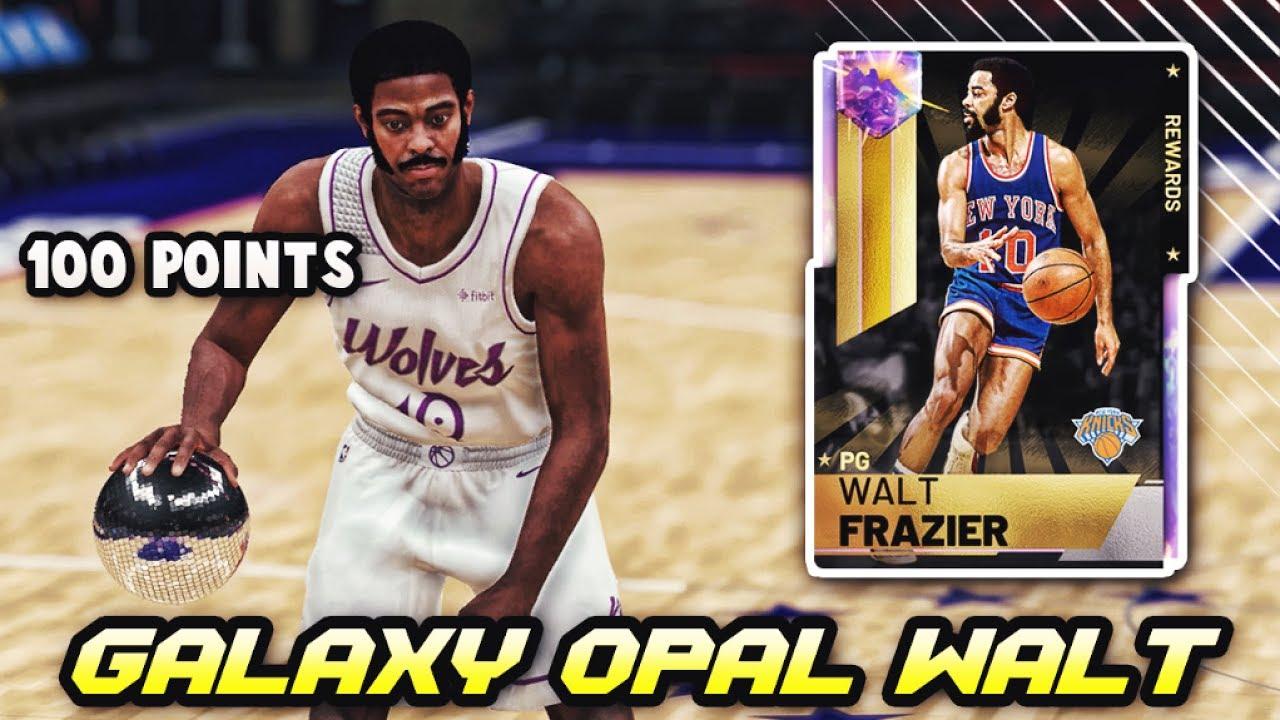 4026abdcfa2 NBA 2K19 GALAXY OPAL WALT FRAZIER IS INCREDIBLE!!  100+ POINTS ...