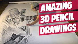 Amazing 3D Pencil Drawings - BEST Of - HD