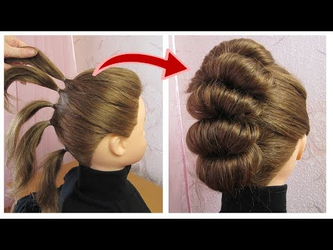 coiffure-simple-pour-cheveux-courts-|-coiffure-de-soirée-|-easy-updo-prom-hairstyle-for-short-hair