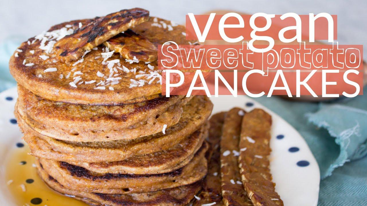 How to Make Vegan Sweet Potato Pancakes
