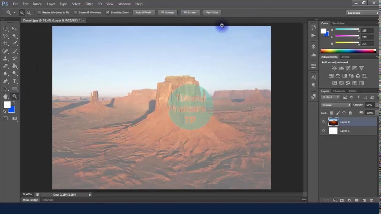 Cara Membuat Gambar Transparan Di Photoshop Youtube