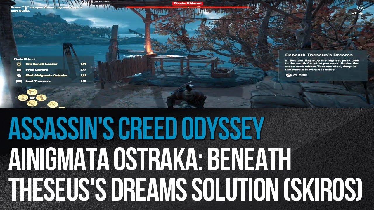 Assassin's Creed Odyssey - Ainigmata Ostraka: Beneath Theseus's Dreams  solution (Skiros)