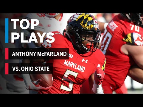 Top Plays: Anthony McFarland Highlights vs. Ohio State | Maryland | Big Ten Football