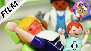 Film Playmobil en français | Emma se cache dans le sac de son papa - Chez le dentiste | Famille Brie
