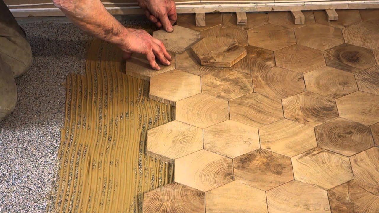 Comment Poser Des Pavés En Bois De Bout ? / End Grain Wood Blocks Flooring    YouTube