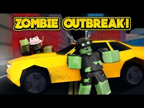 ZOMBIE OUTBREAK IN JAILBREAK! (ROBLOX Jailbreak)
