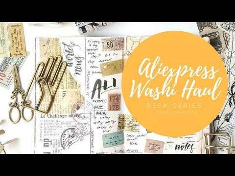 Ali Express Stationery Washi Tape Haul - Journal Entry Washi Swatching Process Video // DESK SERIES