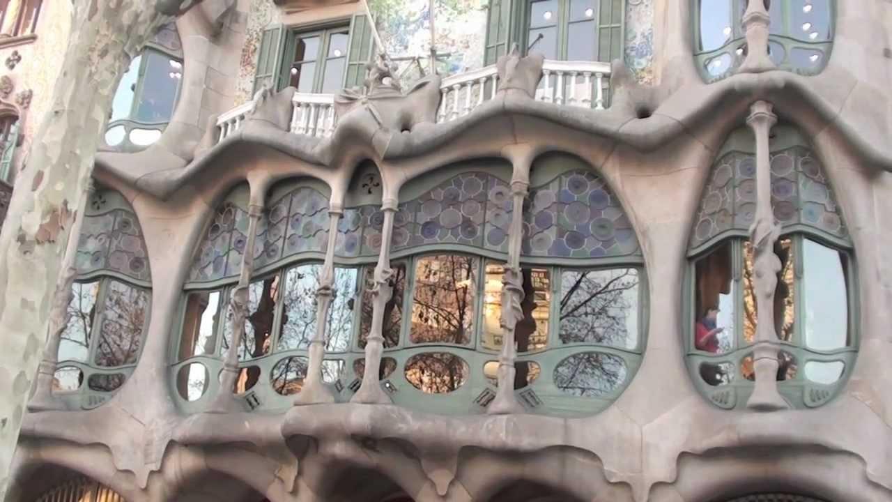 Casa batll gaud en barcelona youtube - Casa de madrid en barcelona ...