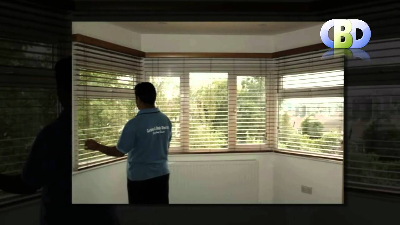 Baywindow Wooden Venetian Blinds At