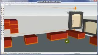 Кирпичи для проектирования печки в программе Google SketchUp