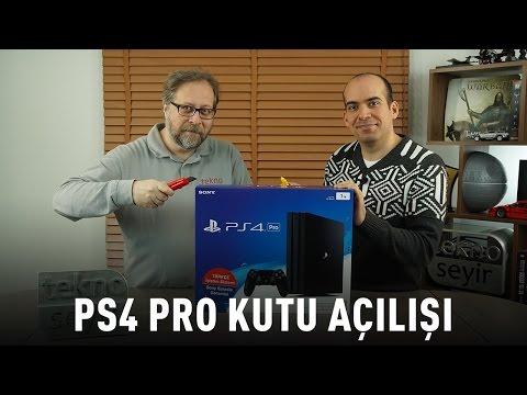 Sony Playstation Pro Kutu Acilisi