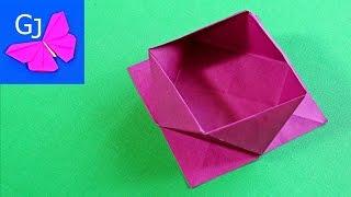 Простая Оригами коробочка из бумаги(Оригами коробочка из бумаги - оригинальная и одновременно легкая поделка. Хорошо подходит для хранения..., 2014-06-03T15:46:01.000Z)