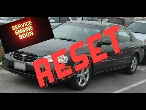 How To Reset Service Engine Soon Light On A 2002 Nissan Maxima