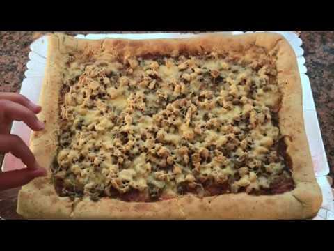 وصفة-بيتزا-عائلية-بصلصة-الباربكيو-ساهلة-و-لذيذة-recette-pizza-familiale-poulet-barbecue-facile