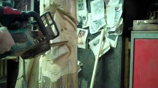 Chainsaw Carving A Woodspirit -  Step 3 By: John Melo