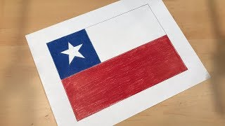 Chilean Flag Drawing 🇨🇱