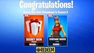 what happens when you WIN SOLO SHOWDOWN in Fortnite: Battle Royale? (Solo Showdown Rewards)