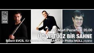 Carl Philipp Emanuel Bach trio sonata for two flutes and piano.