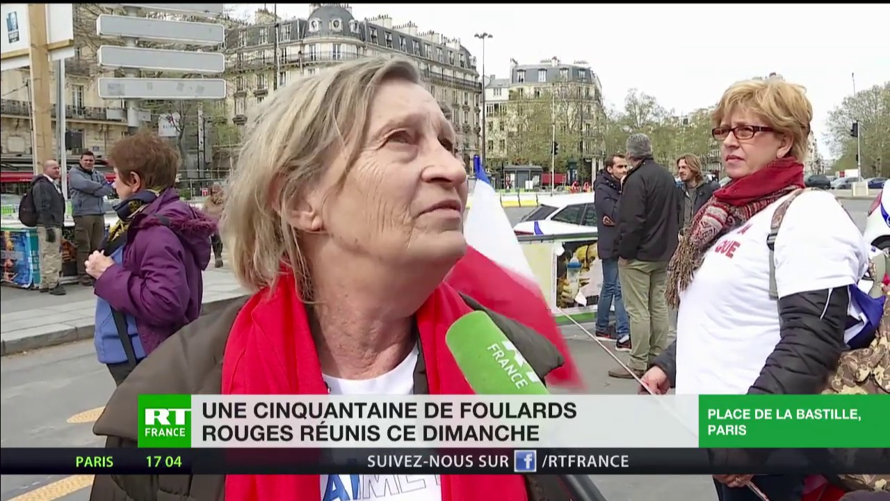 info pour valeur formidable plus grand choix de Une cinquantaine de Foulards rouges réunis ce dimanche à Paris