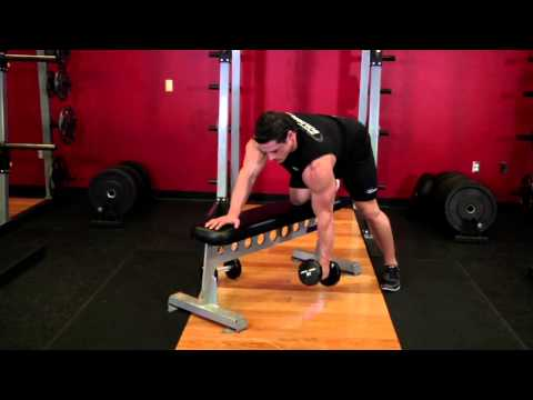 One Arm Dumbbell Row Back Exercise Bodybuilding.com