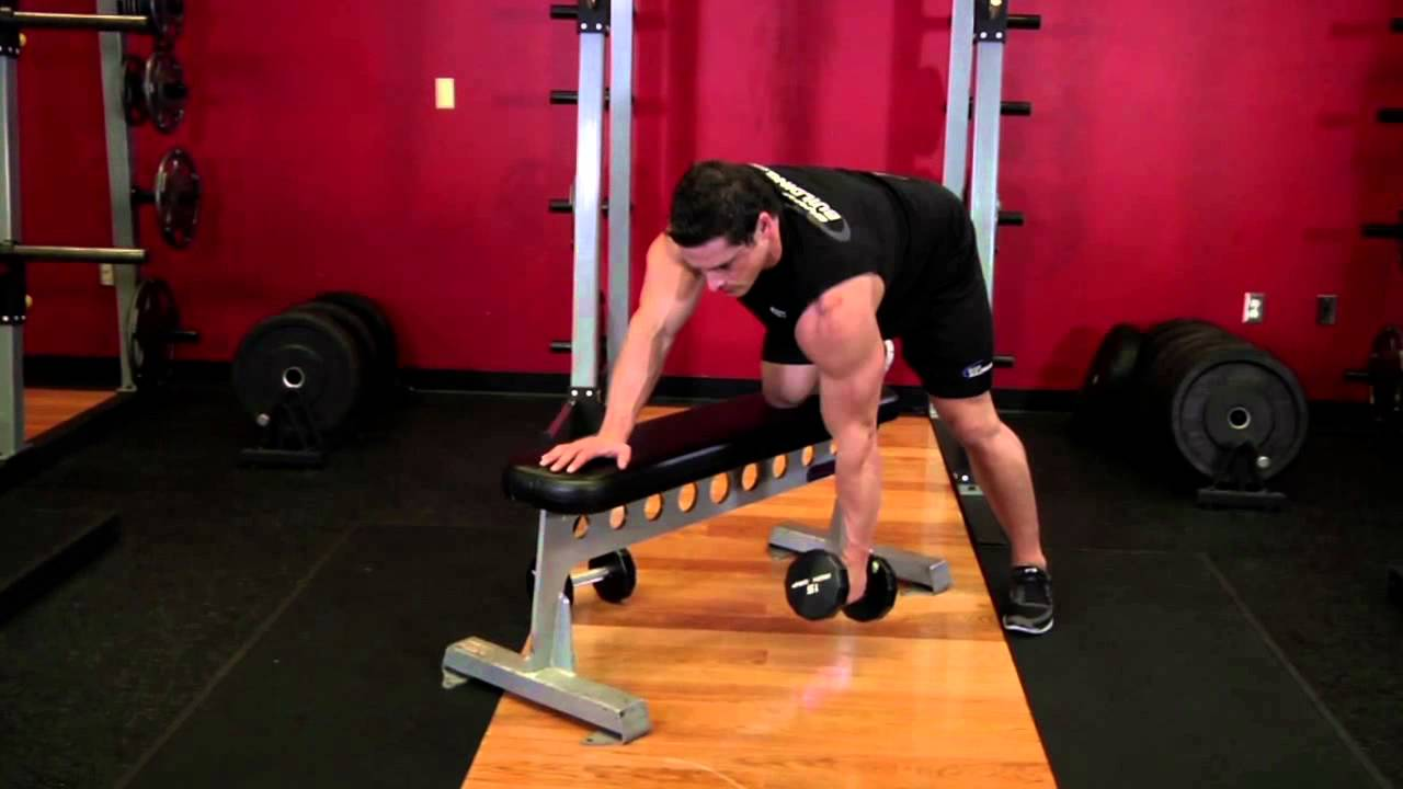One Arm Dumbbell Row - Back Exercise - Bodybuilding.com ...