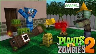 FNAF Monster School: Plants vs Zombies 2 🌻 - Minecraft Animation
