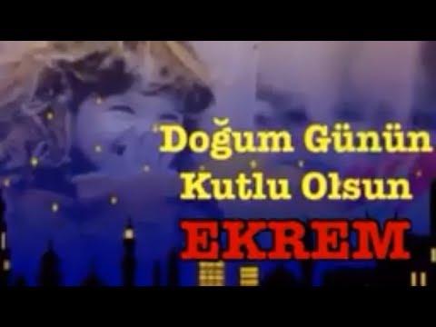 EKREM İyi ki Doğdun :) 3.VERSİYON *happy birthday Ekrem* Made in Turkey :) 🎂 *ABİDİN KUKLA*