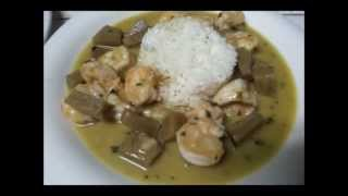 Travel Cooking with Bruce: Green Curry Coconut Shrimp in Belize