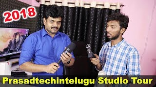 Prasadtechintelugu Studio Tour & Gear | Camera Mic & Editing Software of Prasadtechintelugu