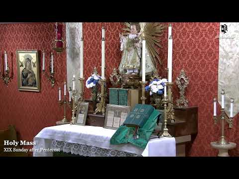 Sunday Mass: 8:30 AM EASTERN TIME (E.T)