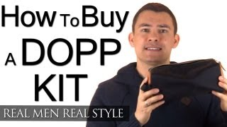 Buying A Dopp Kit - How To Buy A Quality Bathroom Bag - Men's Toiletry Bag - Blue Claw Co