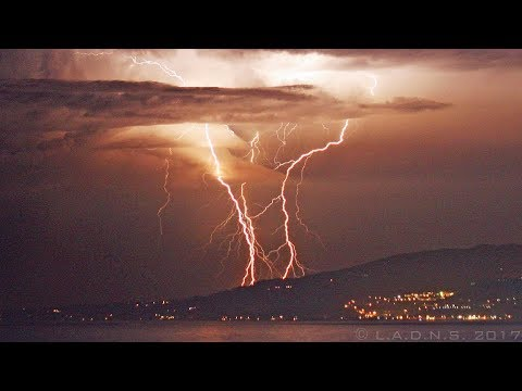 Malibu Lightning / Pacific Ocean Thunderstorm / California Lightning At Sea