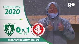 AMÉRICA-MG 0 X 1 INTERNACIONAL | MELHORES MOMENTOS | QUARTAS DE FINAL COPA DO BRASIL 2020| ge.globo