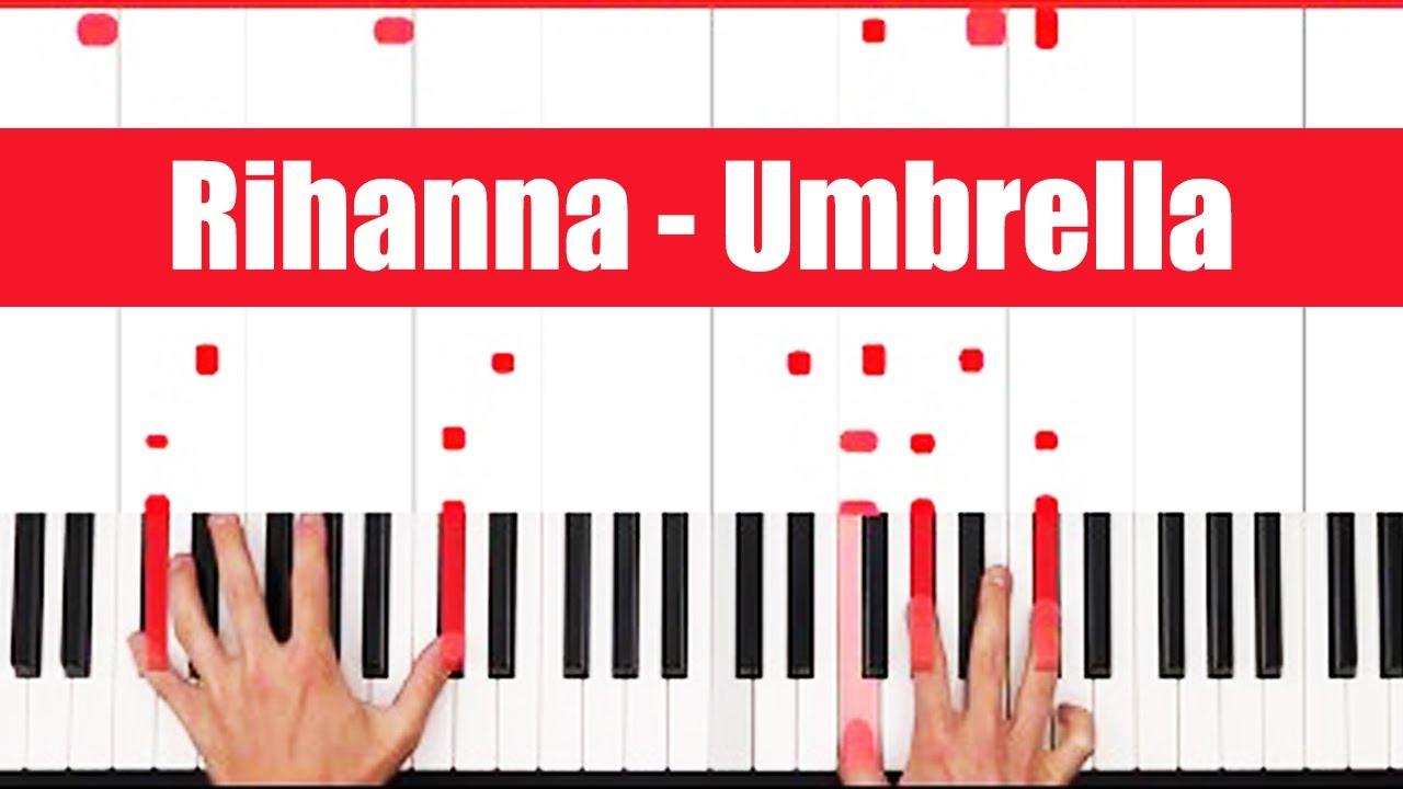 Umbrella Rihanna Piano Tutorial Easy chords