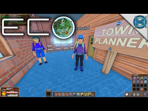 Eco | Town Hall Tour | Let's Play Eco Gameplay | S01E17