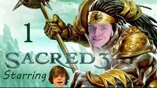Let's Play Sacred 3 (Co-op w/ Hitzip) Part 1 - Maybe This Game Is Good?