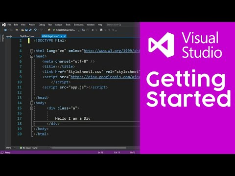 How To Create Html Project In Visual Studio 2019 Youtube