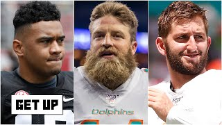 Tua, Ryan Fitzpatrick or Josh Rosen: Who will be the Dolphins' starting QB? | Get Up