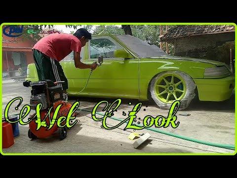 Cat Mobil Repaint Clear Coat Blinken Wet Look