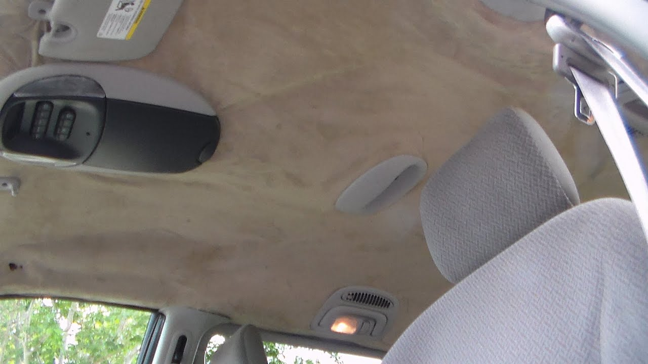 hight resolution of how to repair headliner 2005 dodge grand caravan part 2