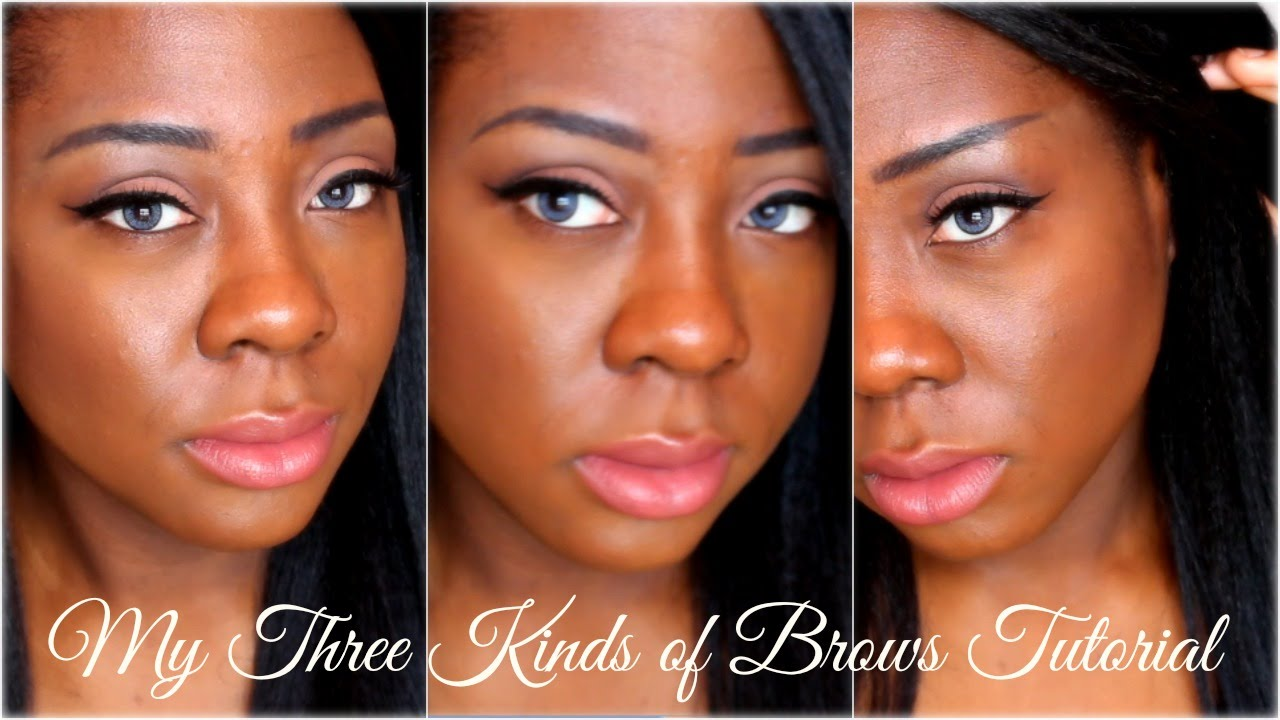 My 3 Kinds of Brows Tutorial (Pointy, Straight, Arched) - YouTube