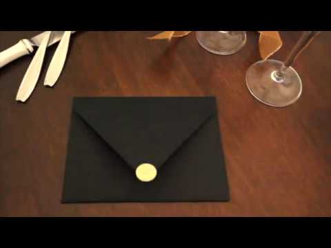Black and Gold Floral Custom Pocket Folds Wedding Invitations